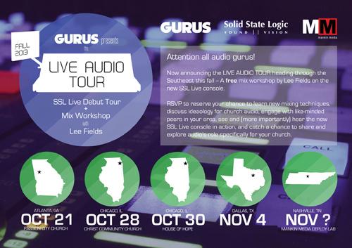 Gurus-Live-Audio-Postcard-Front