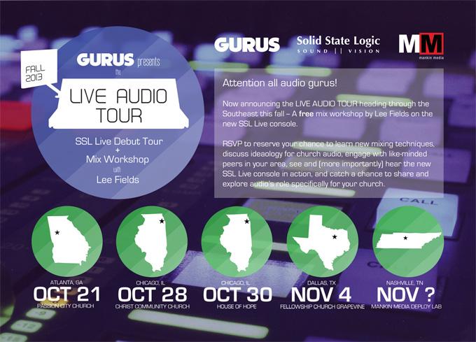 gurus live audio tour