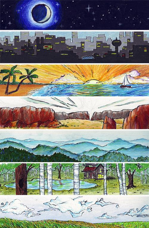 journal environment illustrations