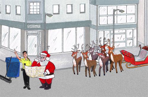 BBB Christmas illustration