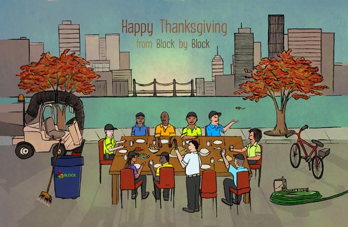 block by block thanksgiving